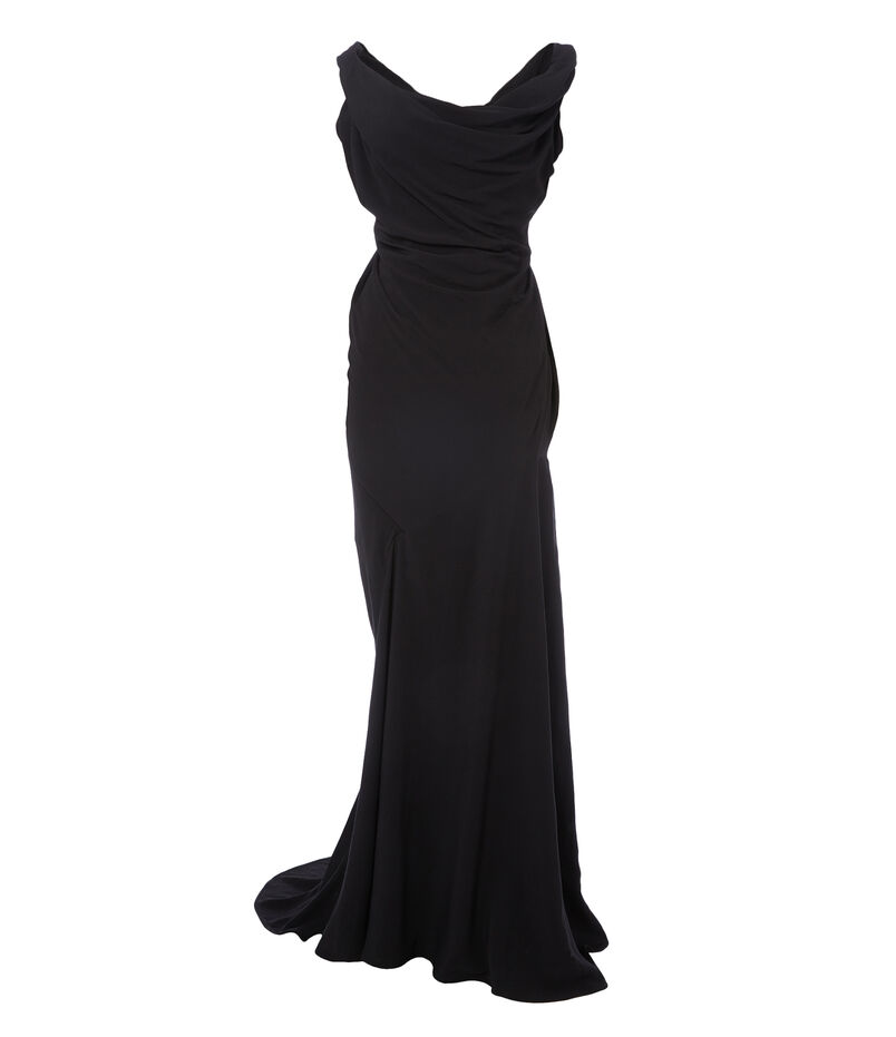 Long Amber Corset Dress Black