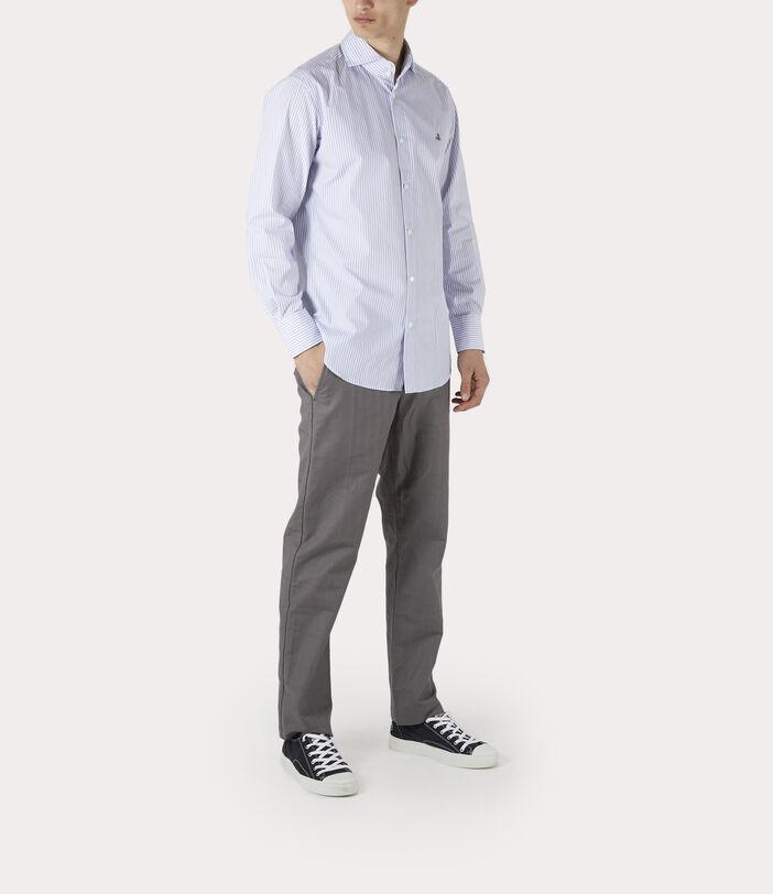 New Cutaway Shirt Blue Stripe 2