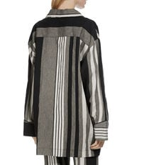 Pyjama Stripe Shirt Black