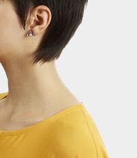 Iris Bas Relief Earrings Gunmetal