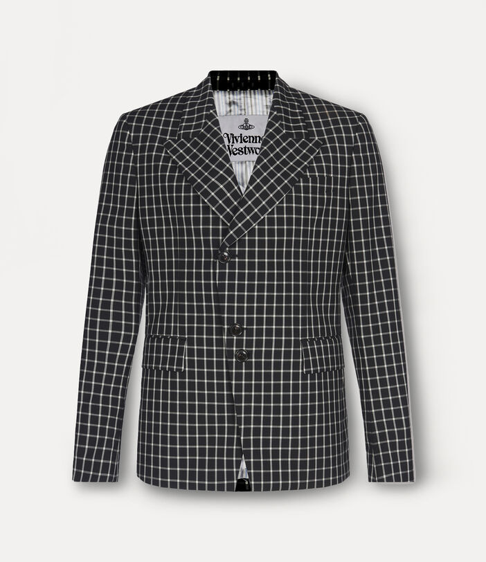 Peacock Jacket Black Small Check 1