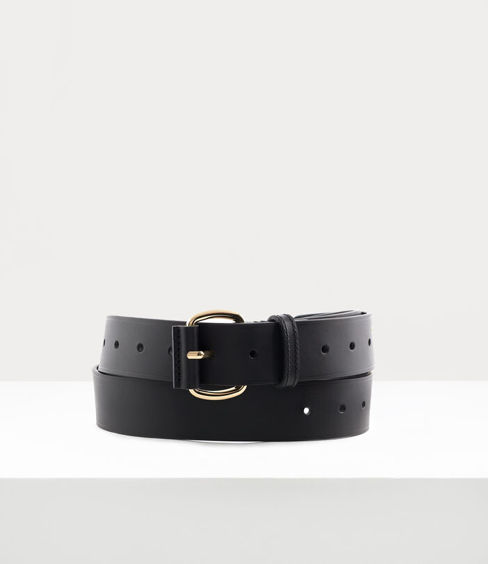 Roller Buckle Belt Black/ Light Gold 1