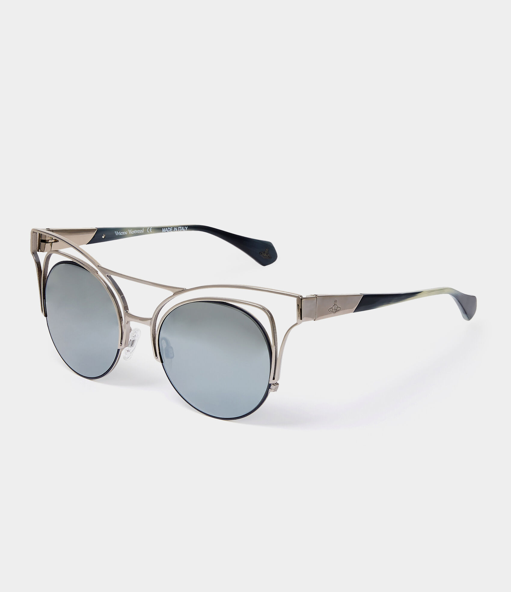 443118ec31ad Cut Out Cat-Eye Sunglasses Gunmetal Gold