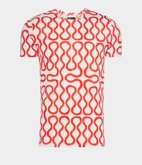Squiggle T-Shirt White/Red