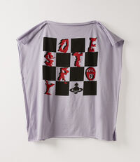 Square Destroy$ Map T-Shirt Violet