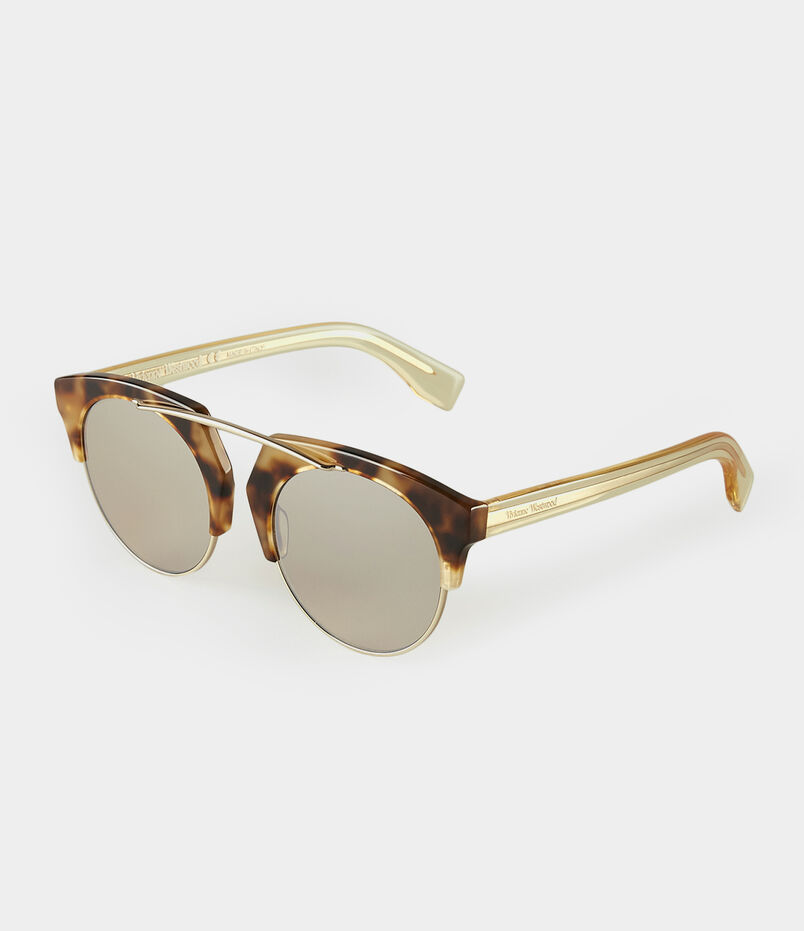 Tortoiseshell Browline Sunglasses VW960S2BBF