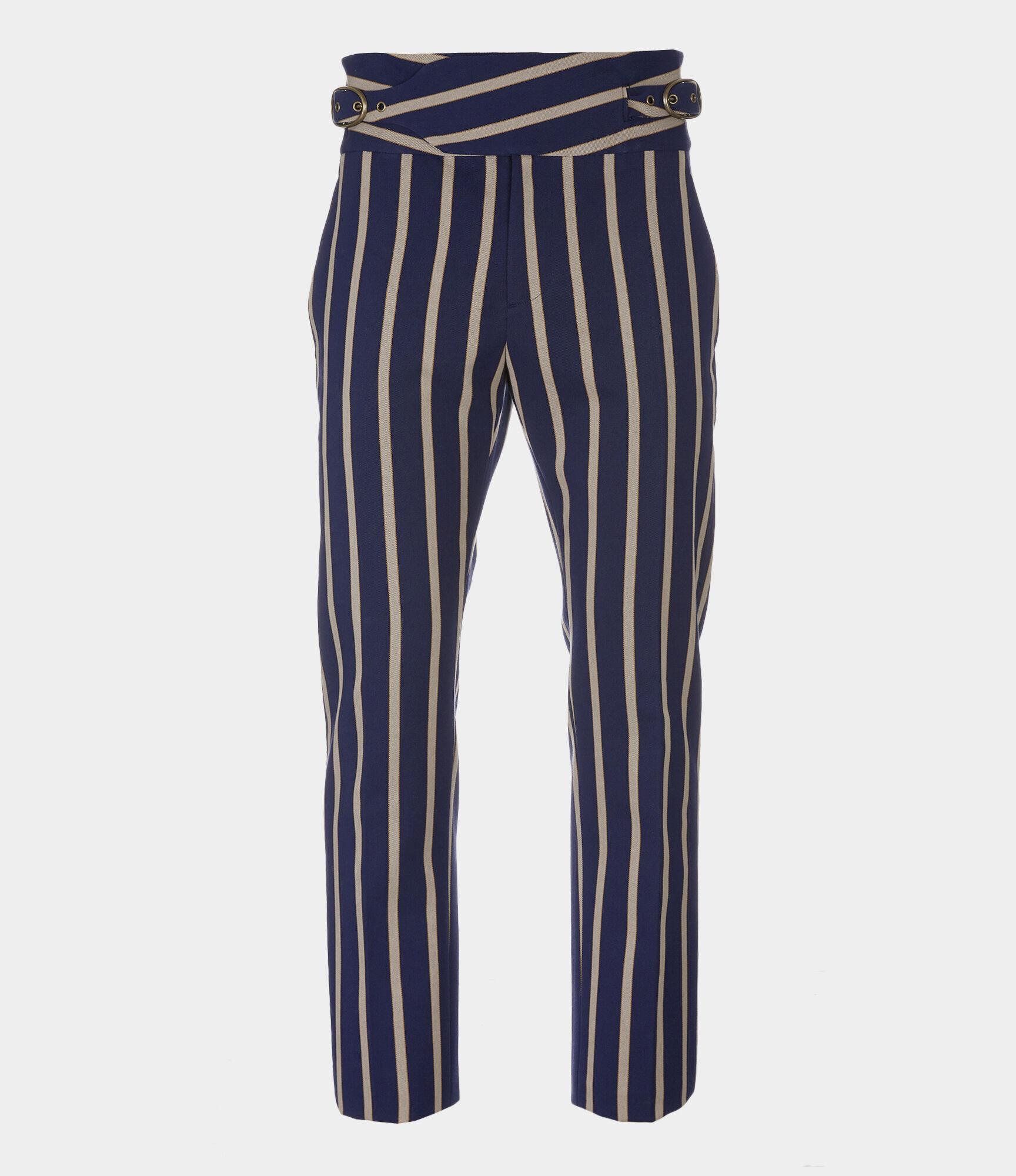 Peacock Trousers Blue/Khaki