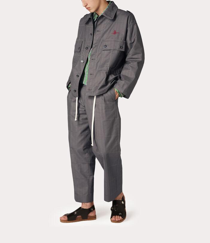 Ben Overshirt Grey Check Herringbone 2