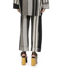 Pyjama Stripe Franco Trousers Black