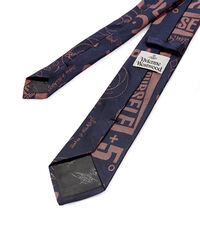 Artwork Jacquard Tie Dark Blue/Purple