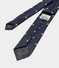 Orb Jacquard Tie Dark Blue