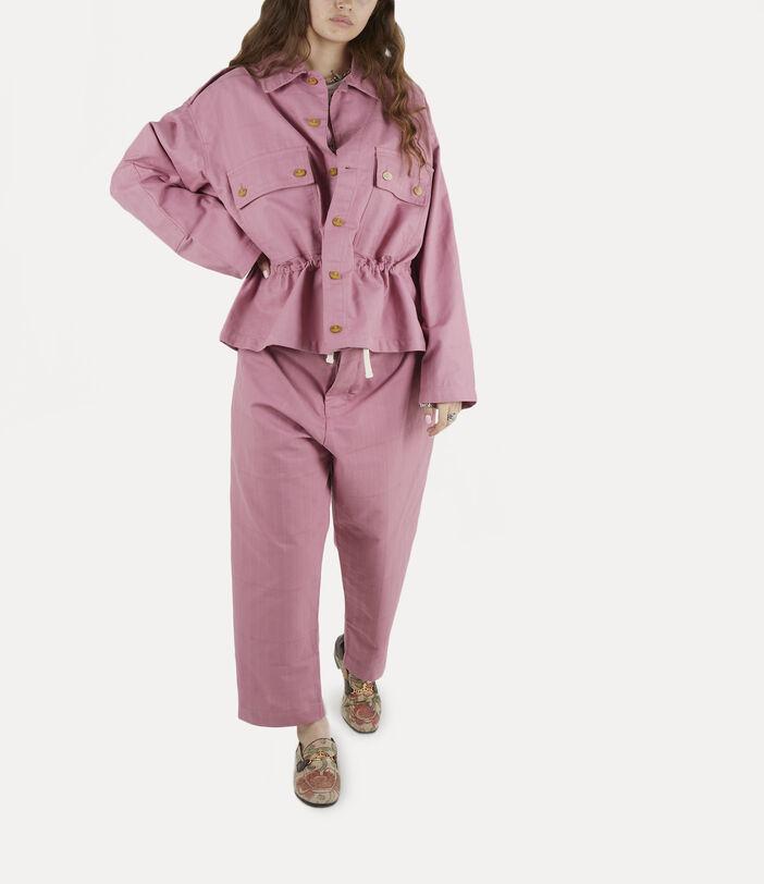 Alien Trousers Pink Check Herringbone 2