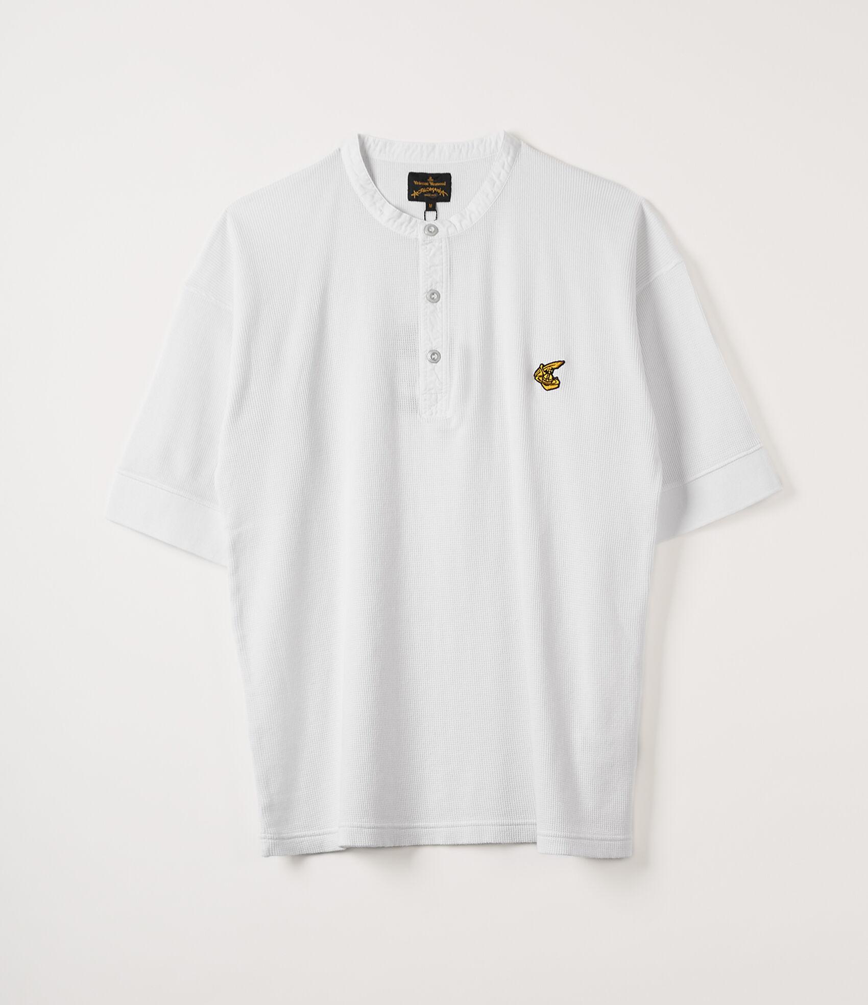 24abaca7 Short Sleeve Grandad T-Shirt White
