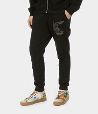 Tracksuit Bottoms with Patch Black