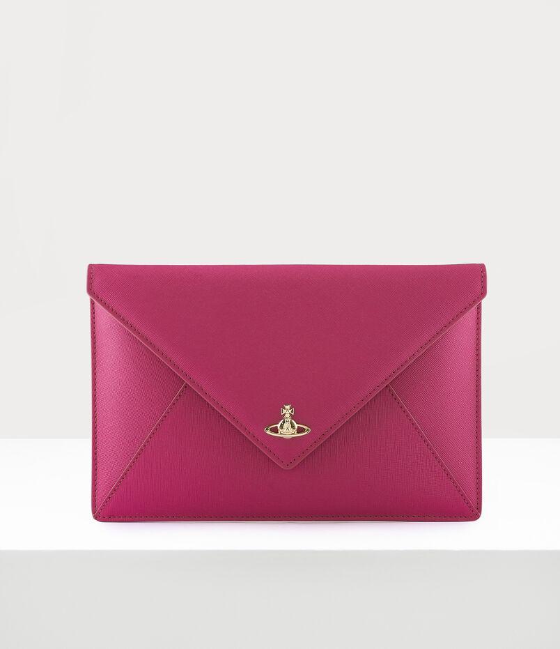 Vivienne Westwood Victoria Envelope Clutch Bag Pink