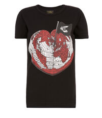Classic Organic Heart World T-Shirt Black