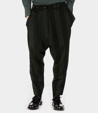 Warped Trousers Black/Dark Green