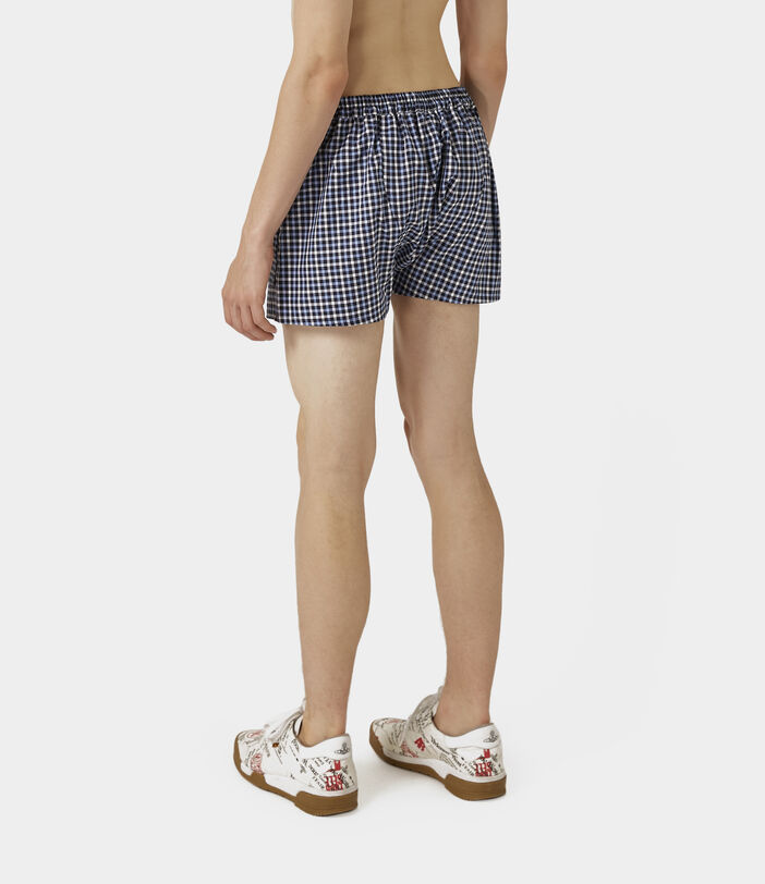 We Boxer Shorts Blue Gingham 4
