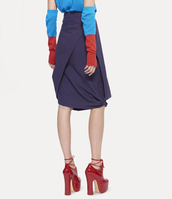 Amnesia Midi Skirt Navy 5