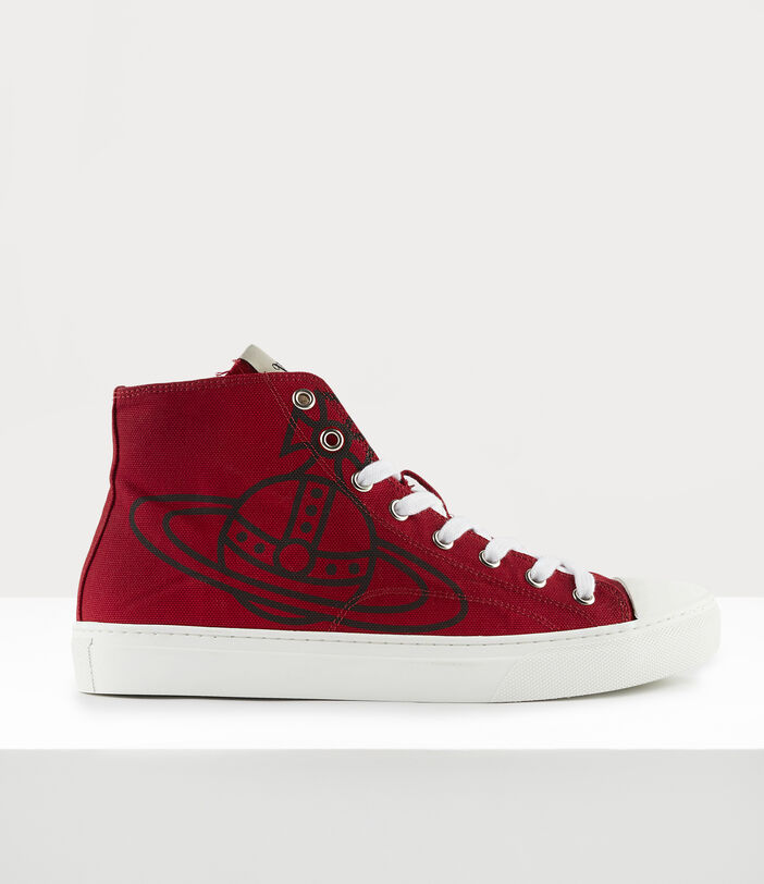 Men'S High Top Plimsolls Red 1