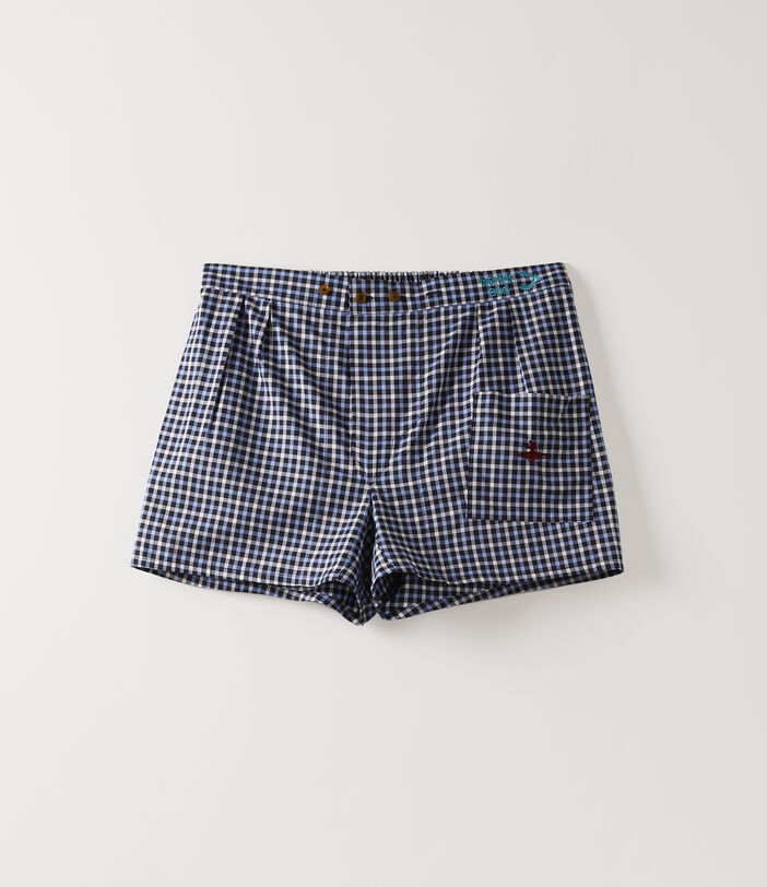 We Boxer Shorts Blue Gingham 1