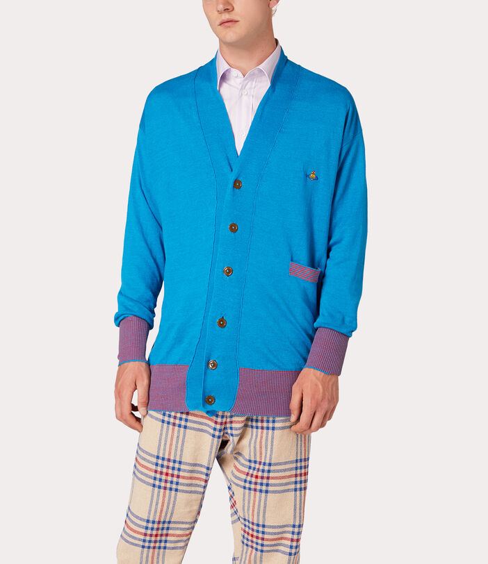 Polo Cardigan Turquoise 5