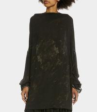 Long Sleeve Fold Blouse Black
