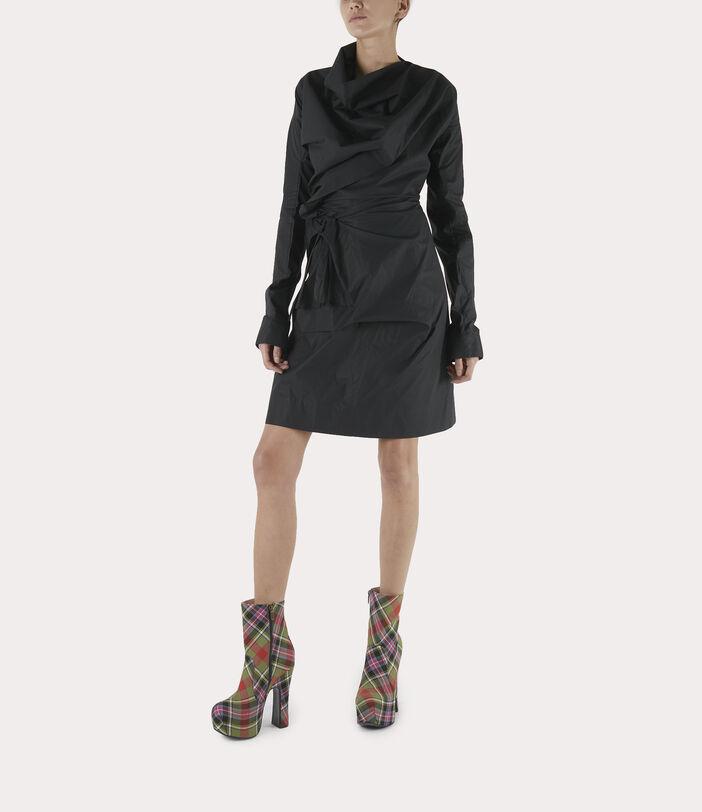 Long-Sleeve Cliff Dress Black 2