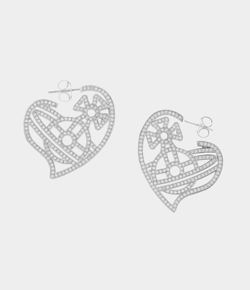 Giuseppa Hoop Earrings Silver Tone