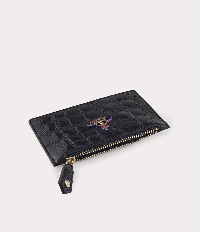 Archive Orb Slim Long Card Holder Black/Iridescent 4