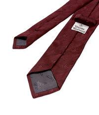 Jacquard Tie Red