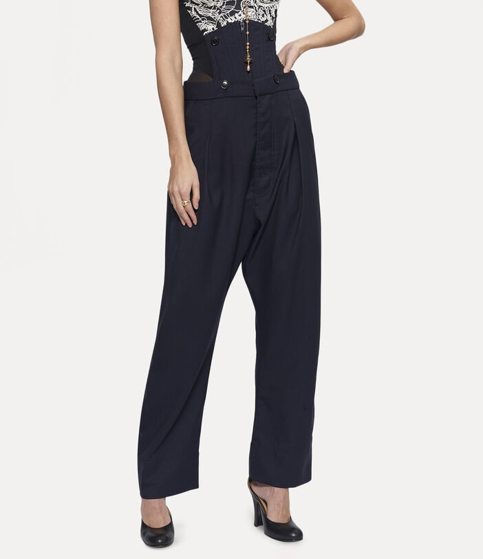 Corset Trousers Navy 3