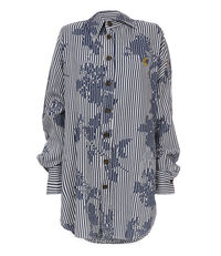 Chaos Shirt Rose Stripe Print