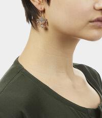 Amma Drop Earrings Pink Gold