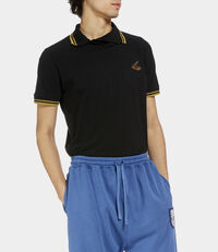 Squiggle Polo Shirt Black