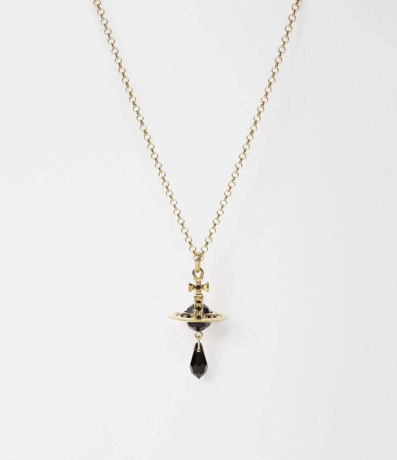 a5cfddb7649c Crystal Orb Tiny Pendant Oxidised Gold Tone