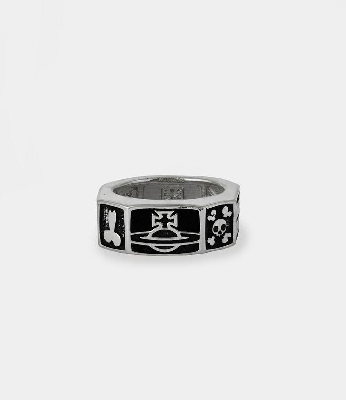 Samos Ring Silver-Tone 1