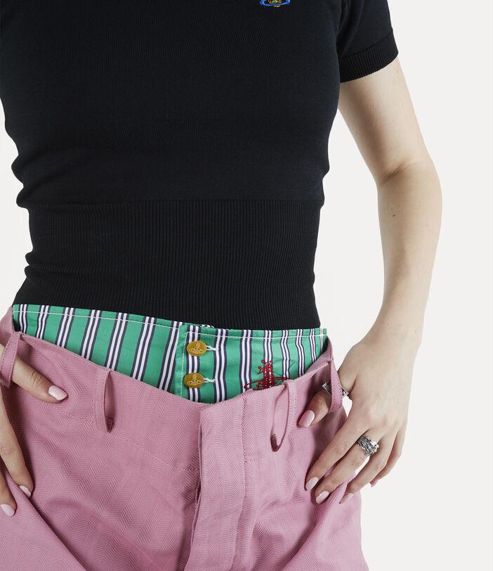 Alien Trousers Pink Check Herringbone 5