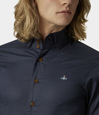 Stretch Krall Shirt Navy Blue