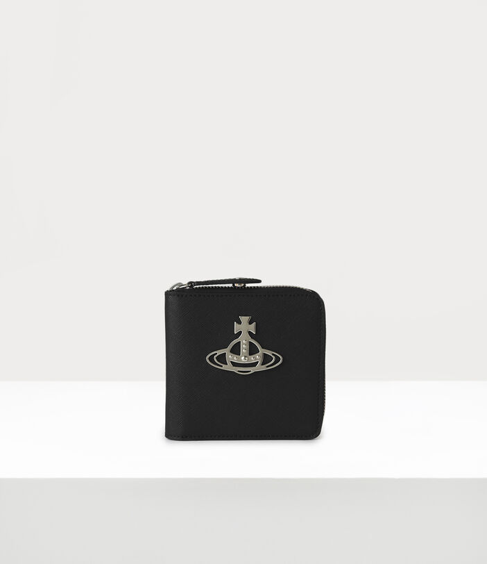 Kent Rounded Square Wallet Black 1