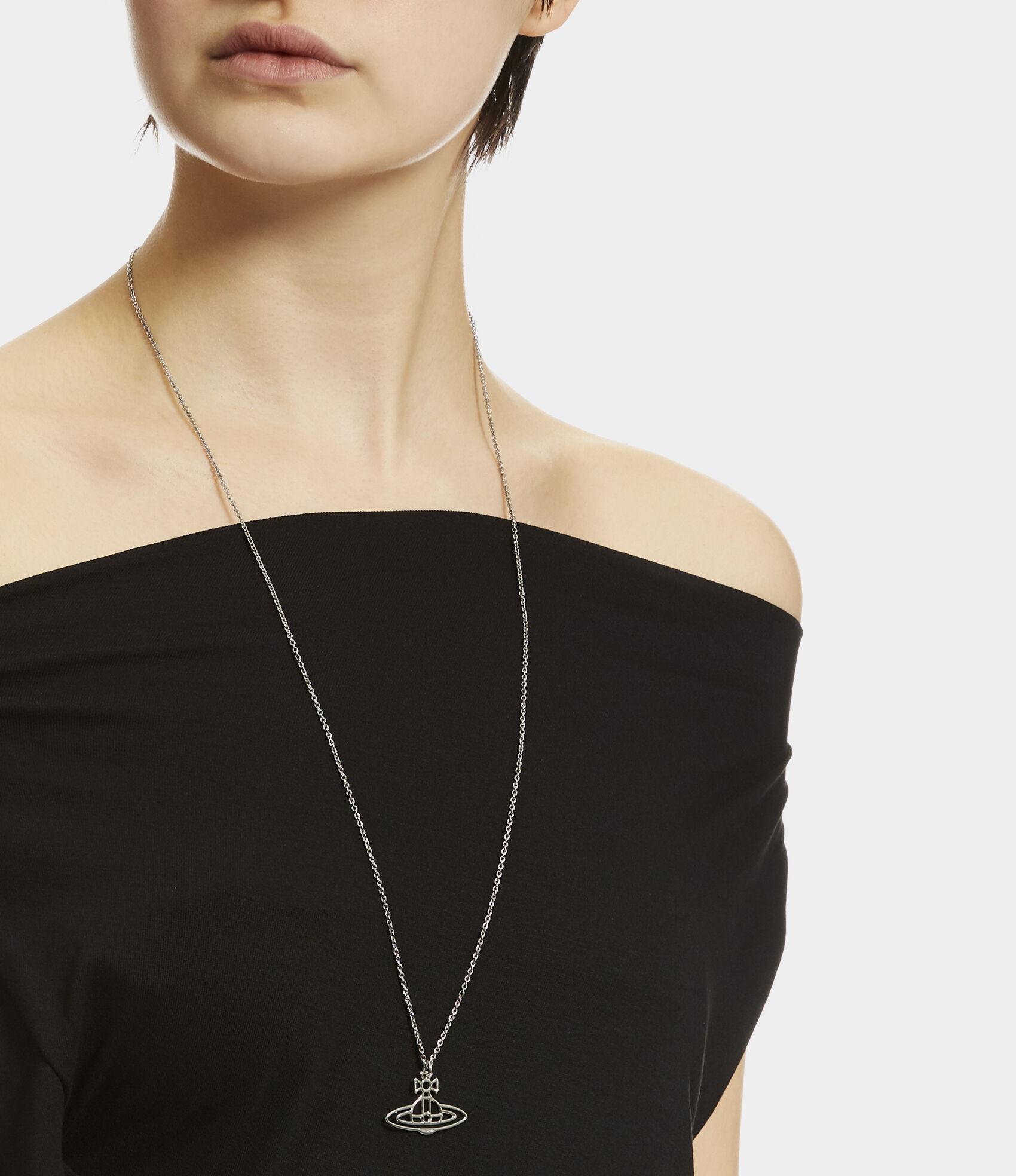 17c7d5bfd31df9 Thin Lines Flat Orb Pendant | Women's Necklaces | Vivienne Westwood