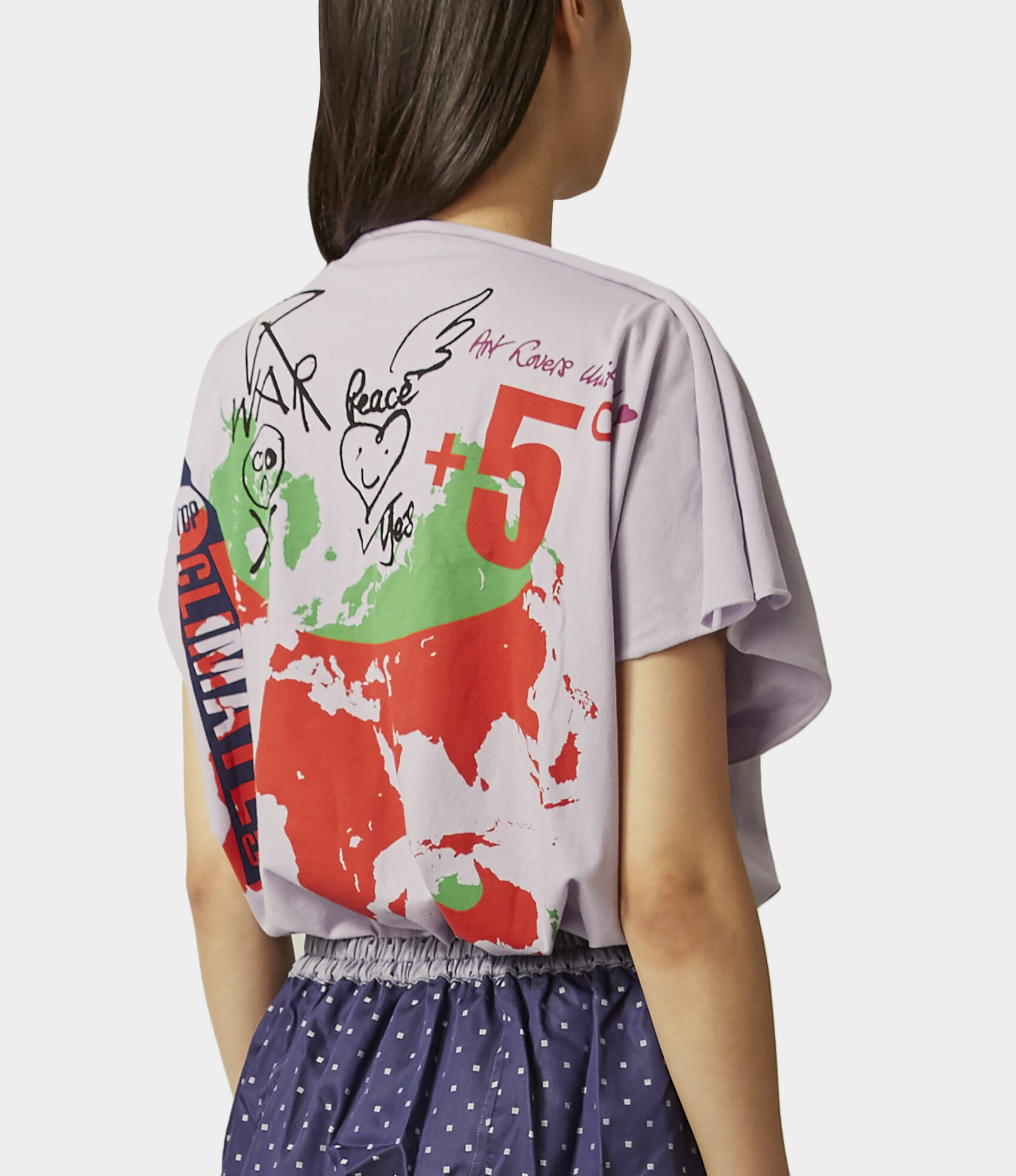 Square Destroy$ Map T-Shirt Violet | T-shirts | Vivienne Westwood on