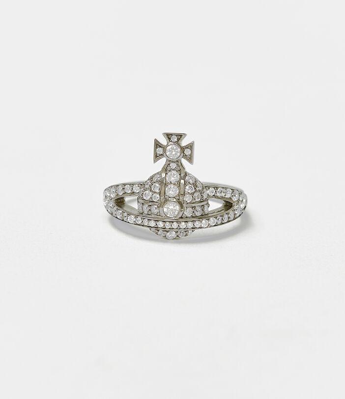 Mini Orb Ring Silver 2