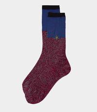 Sparkle Ribbed Socks Red
