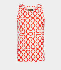 Squiggle Vest White/Red
