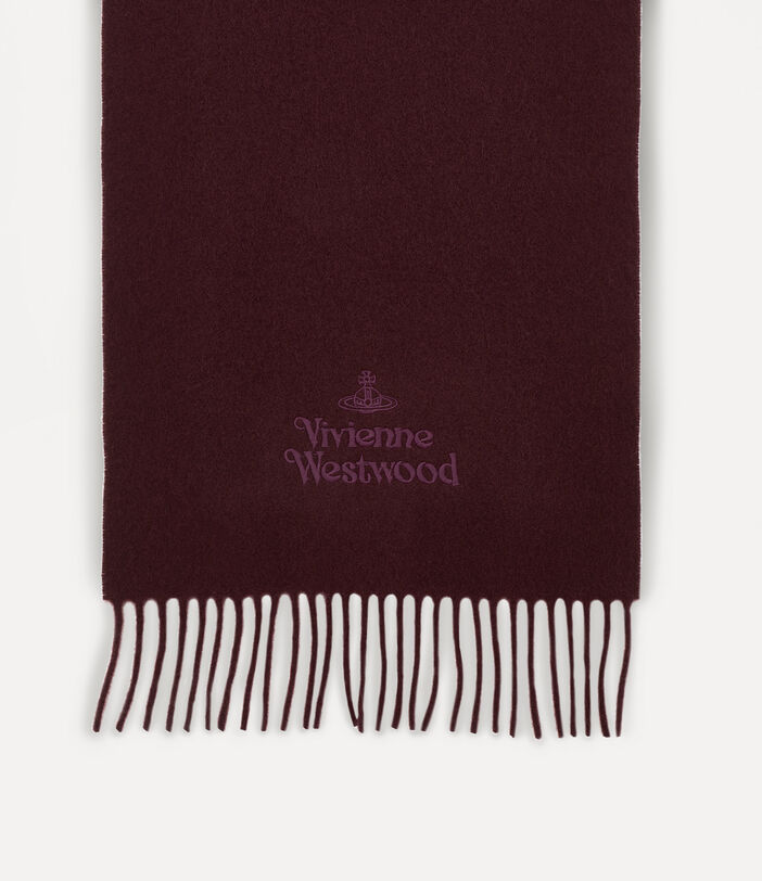 Embroidered Lambswool Scarf 2