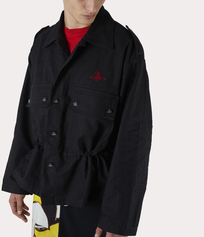 Ben Overshirt Black Check Herringbone 10