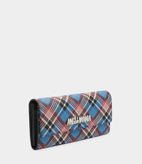 Shuka Tartan Long Wallet Blue