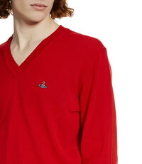 V-Neck Jumper Red