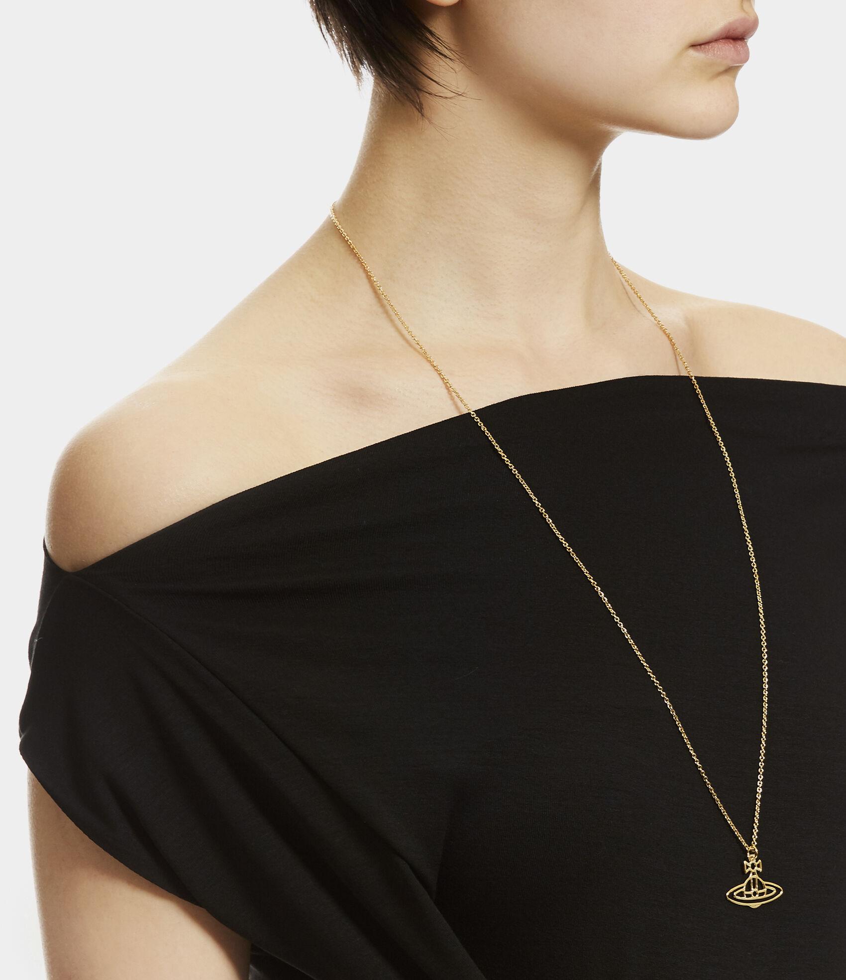 f98bb2a354582c Vivienne Westwood Necklaces | Women's Jewellery | Vivienne Westwood - THIN  LINES FLAT ORB PENDANT